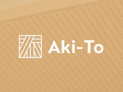 Aki-To logo design branding