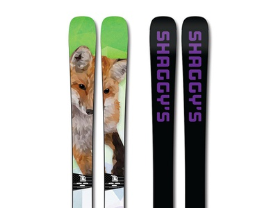 Shaggy's Copper Country Skis vector illustration design