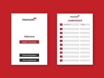 Travelers Insurance app ui ux design