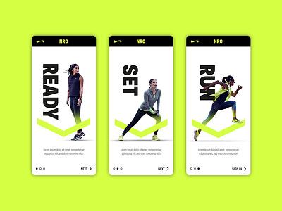 Nike Run ux ui app design