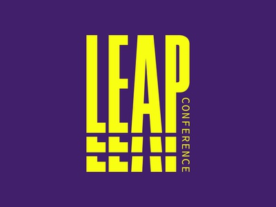 Leap Conference typography logo branding design