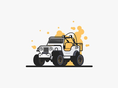Jeep Jeep off road vector outdoors illustration truck jeep car auto