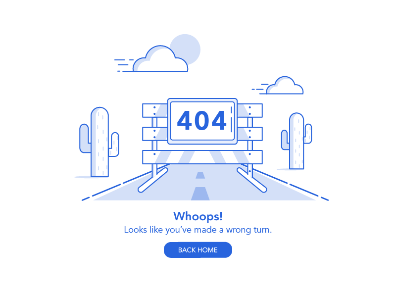 404 page illustration road block cactus 404 page 404 error 404