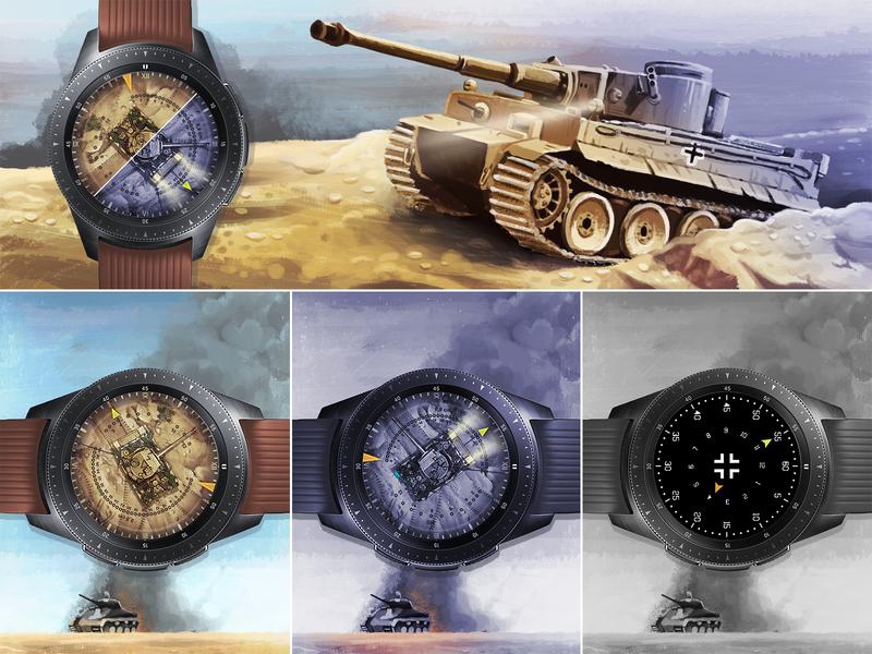 Panzer Time idea war samsung smartwatch watch tank illustration