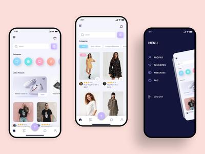 E-commerce app UI/UX modern design clean ui ui design e-shop e-commerce online store online shop ecommerce mobile app design mobile design mobile app ux ui