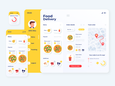 Food Delivery UI/UX and CRM ios food delivery app food delivery food app food dashboad crm mobile design mobile app mobile ui mobile ux ui