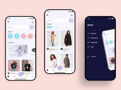 E-Commerce Concept fashion e-commerce e-shop ecommerce app ecommerce mobile design mobile ui mobile app mobile ux ui