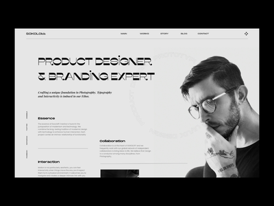 Personal Page Design webpage design ux ui brand portfolio typography branding web personal brand website design webdesign web design website