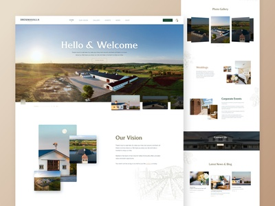 Golf club and Winery Landing Page farm winery golf design web landing page landing website webdesign