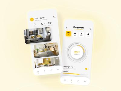 Smart Home App smart home app mobile app design smart home smart house design ios app app mobile app mobile ux ui