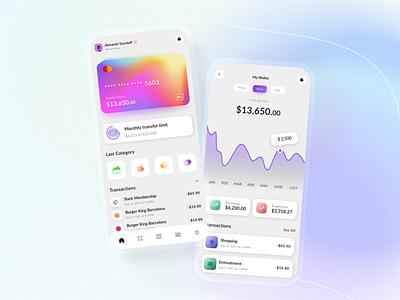 Finance mobile e-wallet app money app crypto app ios ux ui wallet app e-wallet finance app banking app mobile app design mobile app mobile