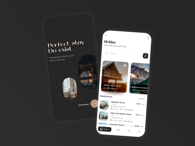 House booking app clean modern rent stay ux ui home booking smart home home rent smart house airbnb booking house rent mobile app design mobile app mobile