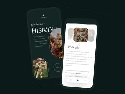 History Learning App audio book app ux ui history app book app learning app mobile app ui mobile app design mobile app