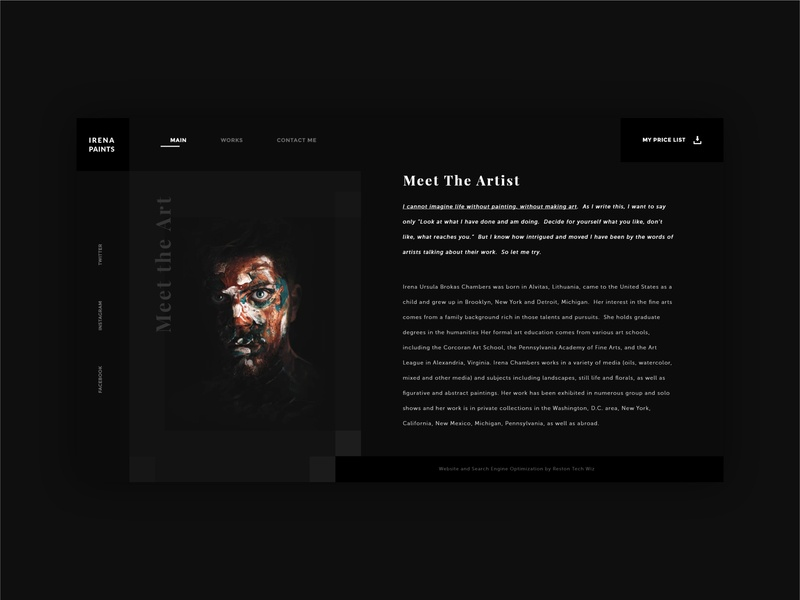 Artist Web Design Concept By Alex Socoloff On Dribbble