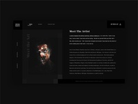 Artist web design concept
