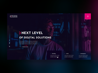 Creative Digital Agency Web Design Concept