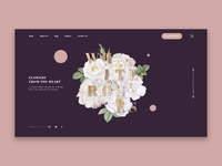 Flower Shop Homepage Concept