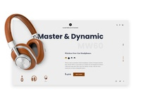 Master & Dynamic Headphones Landing Page Concept