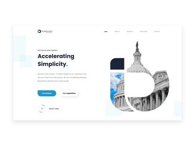 Information Technology Website Concept