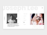 Joseph Lee Art Website Concept