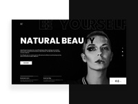 Natural Beauty Web design Landing Concept