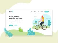 Bike website landing page header in Adobe XD