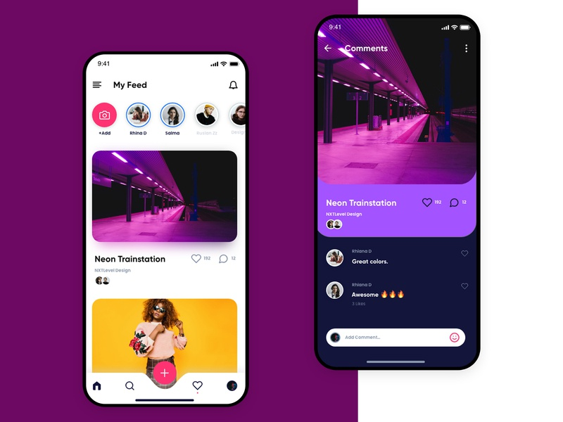 Social Media App Concept By Alex Socoloff On Dribbble