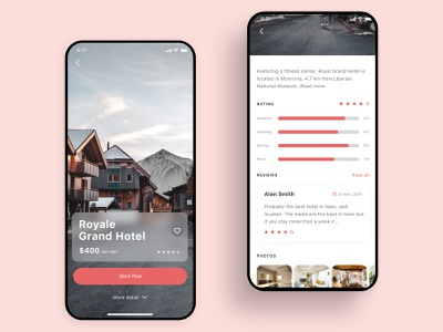 Hotel Booking app Concept mobile app design ios xd rental app rent booking.com aibnb apartment appartment hotel booking hotel app booking app booking design ux ui