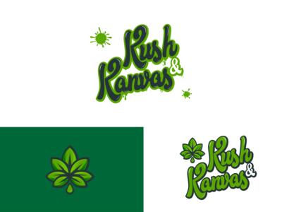 Kush & Kanvas Art Studio Logo
