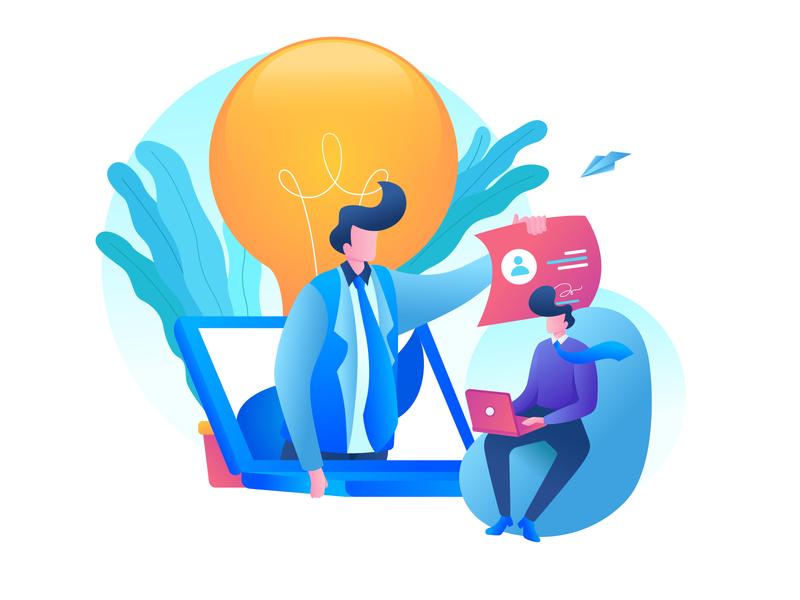 Freelance Illustration freelance design remote work cv design illustration art animation branding illustration landing page webdesign website landing ux ui design freelance illustrator