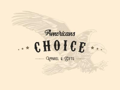 Americans Choice Apparel Logo clothing brand brand design typography art logotype branding and identity identity design branding design eagle american illustrator apparel logo apparel icon typography branding vector logo