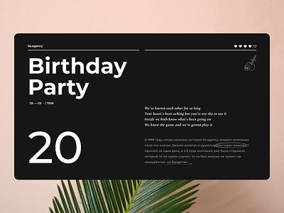 its.birthday type website web typography ux ui minimal flat design