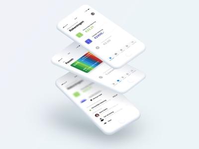 Bunq IOS App ios11 app fun bank redesign iphone ui ux bunq