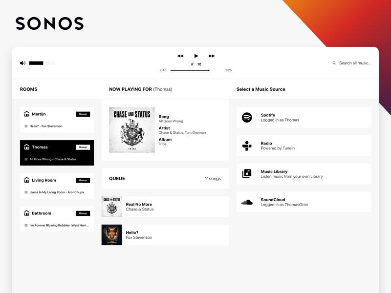 Sonos - Music Mac Application imac redesign player music sonos app mac sketch ui ux