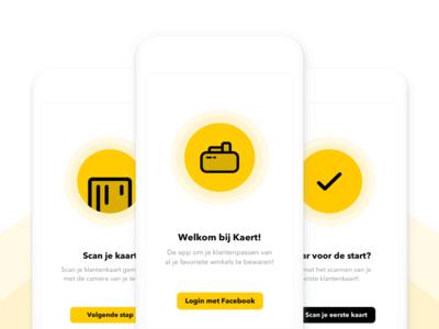 Kaert Information app design ux ui card iphone apple sketch ios