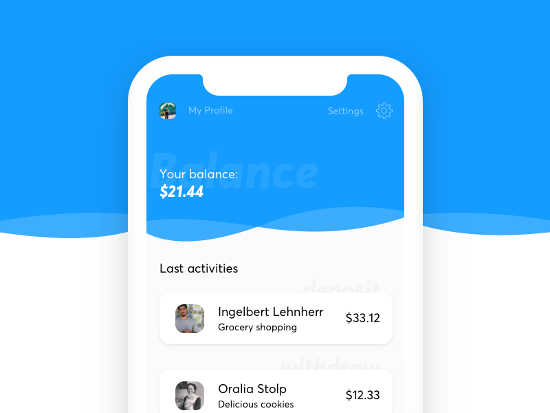 Paypal Home Screen screen home payment paypal design ui ux iphone app ios sketch