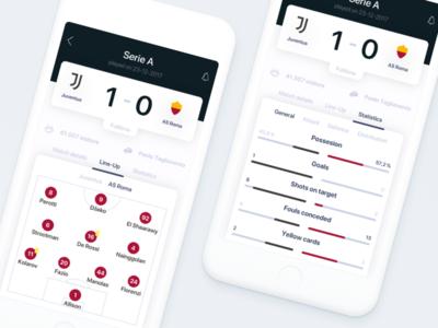 ⚽️ Football Match Center - Stats & Line-Up