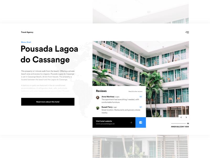 🏨 Hotel Information website hotel ui ux design sketch