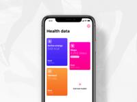 Health data dribbble