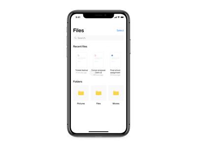 File iOS app - Drag to folder