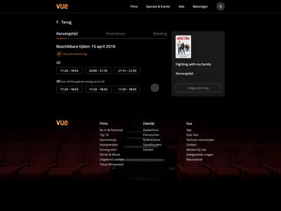 Cinema seat selector