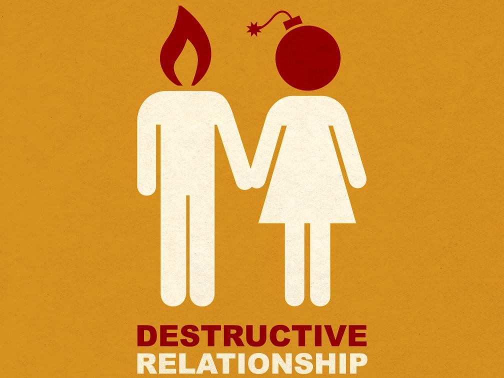 Destructive Relationshships illustration graphic design