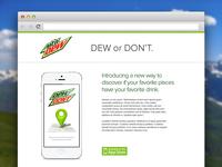 Dew or Don't Website