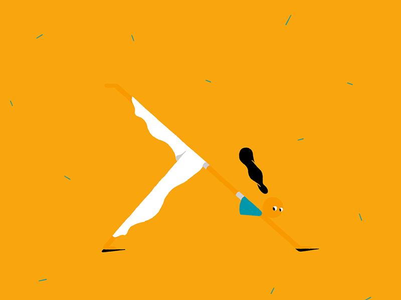She yoga, I sofa.. yoga procreate ipadpro illustration 2d