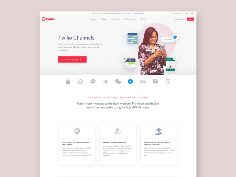 Twilio Channels Page