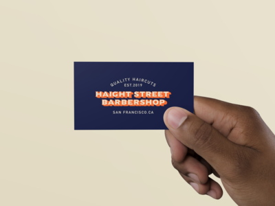 Haight Street Barbershop business card
