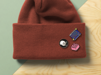 Enamel Pins made for Twilio Dev events