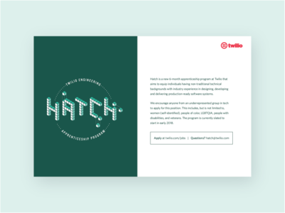 Hatch branding & flyer