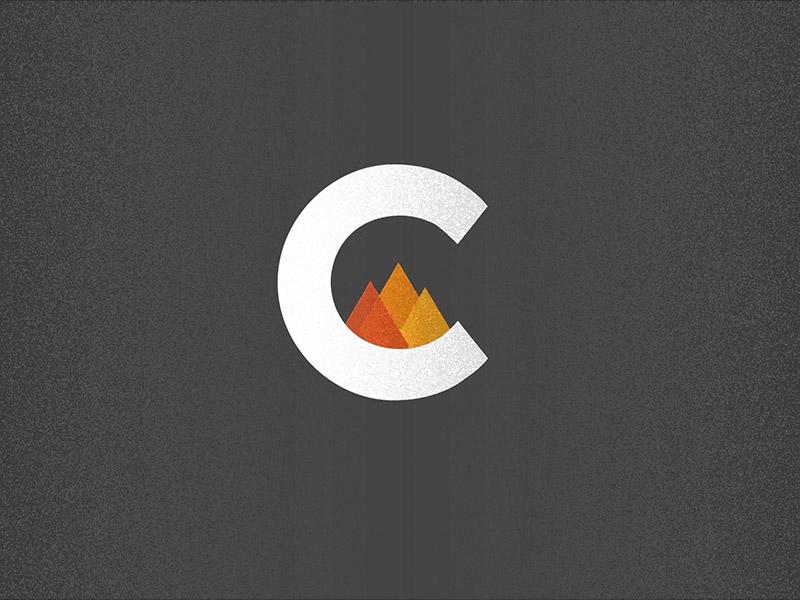 """""""C"""" logo concept icon texture c fire logo"""