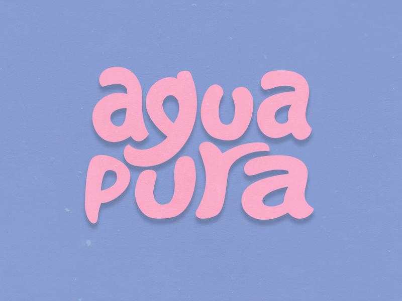 Agua Pura typenerds typesetting custom type pink pura agua pure water typography